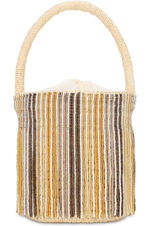 SENSI STUDIO Mini Beaded Bucket Bag