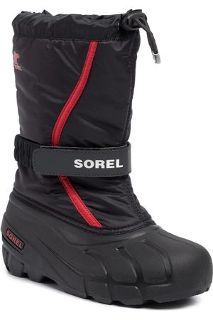 sorel Youth Flurry NY1965 Black/Bright Red
