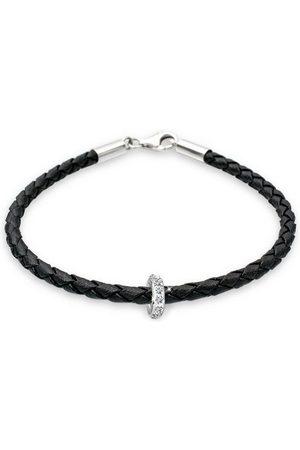 Elli Armband »Leder mit Bead Swarovski® Kristalle 925 «
