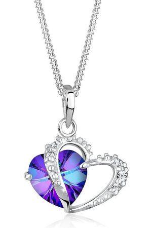 Elli Collierkettchen »Herz Anhänger Swarovski® Kristalle Love 925 Silber«