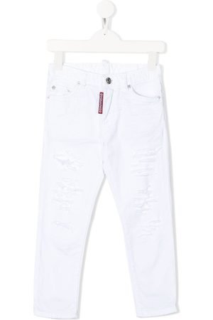 Dsquared2 Jungen Straight - Gerade Jeans im Distressed-Look