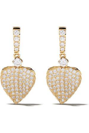 Kiki Mcdonough Mini 18kt 'Lauren' Gelbgoldohrringe mit Diamanten
