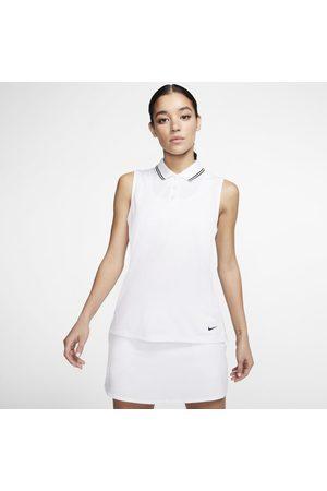 Nike Dri-FIT Victoryärmelloses Golf-Poloshirt für Damen