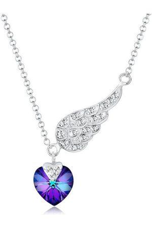 Elli Collierkettchen »Herz Flügel Swarovski® Kristalle 925 Silber«