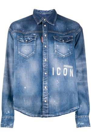 Dsquared2 Icon' Jeanshemd mit Farbklecks-Print