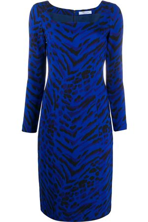 BLUMARINE Kleid mit Zebra-Print