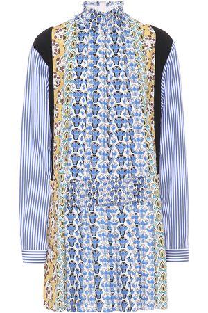 Prada Damen Bedruckte Kleider - Bedrucktes Minikleid aus Sablé