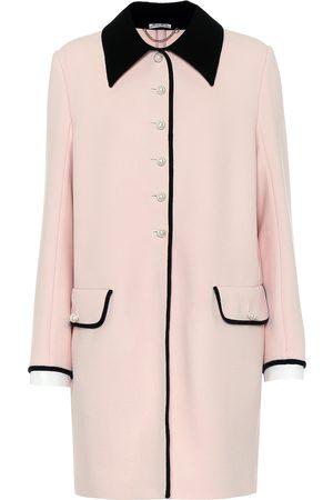 Miu Miu Damen Mäntel - Verzierter Mantel aus Wolle