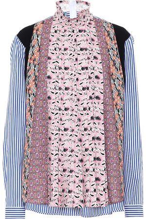 Prada Bedruckte Bluse aus Crêpe