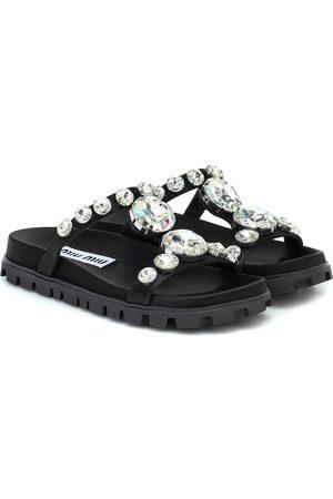 Miu Miu Verzierte Sandalen