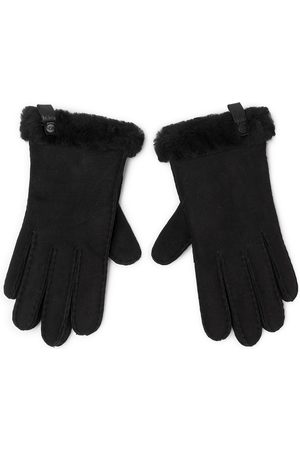 UGG W Shorty Glove W Leather Trim 17367 Black