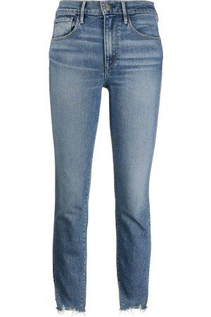 3x1 Hoch sitzende Distressed-Jeans