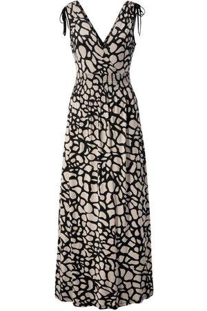 Aniston Damen Strickkleider - Maxikleid mit Raffung an den Trägern