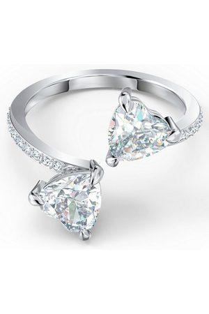 Swarovski Fingerring »Attract Soul Heart, weiss, rhodiniert, 5535192, 5535191, 5512854, 5535193, 5535328«, mit ® Kristallen