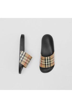 Burberry Slides im Vintage Check-Design, Size: 35