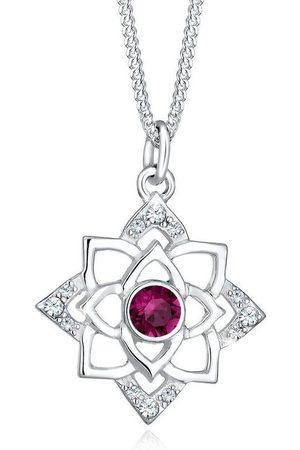 Elli Collierkettchen »Geburtsstein Lotus Swarovski® Kristalle 925 Silber«