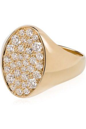 DRU. 14kt Gelbgoldring mit Diamanten