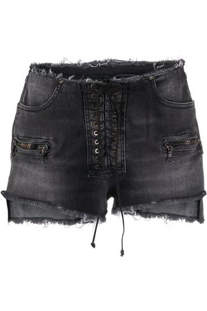 Unravel Project Ausgefranste Jeansshorts