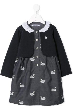 Familiar Kleid mit Schwänen