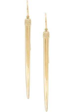 SHAUN LEANE Lange 'No.1' Ohrringe mit Diamanten
