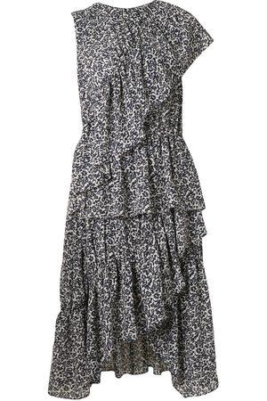 GOEN.J Asymmetrisches Kleid mit Rüschen