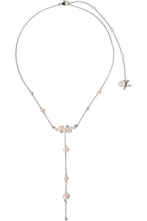 Yoko London Damen Halsketten - 18kt Weißgoldhalskette mit Perlen und Diamanten
