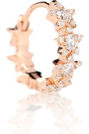 Maria Tash Einzelner Ohrring 8mm Diamond Constellation Eternity Ring aus 18kt Rosegold mit Diamanten