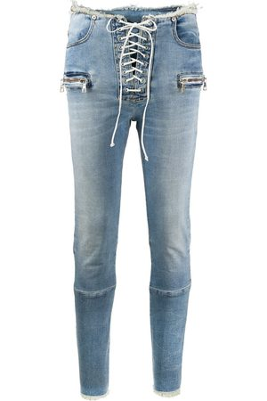 Unravel Project Skinny-Jeans mit Schnürung