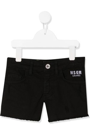 Msgm Bestickte Jeans-Shorts