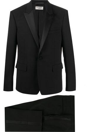 Saint Laurent Smoking-Jacke mit Seidenbesatz