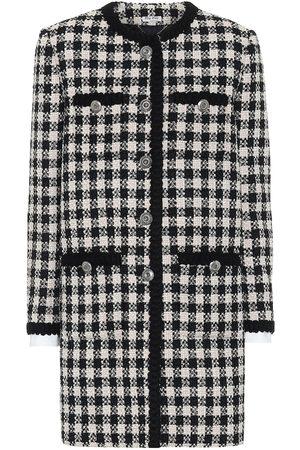Miu Miu Karierter Mantel aus Tweed
