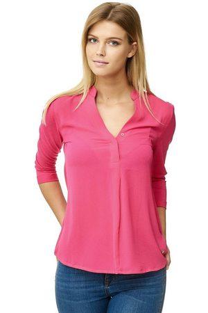 Decay Klassische Bluse mit V-Ausschnitt und Stehkragen 3653619
