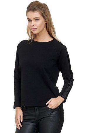 Decay Sweatshirt mit schwarzen Samt-Seitenstreifen