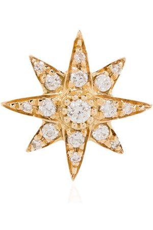Shay Mini 18kt 'Starburst' Gelbgoldohrring mit Diamanten