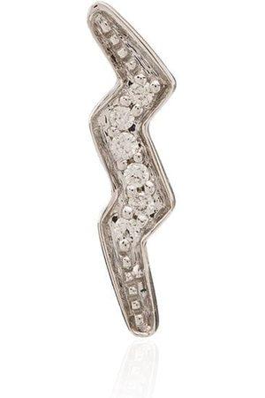 Andrea Fohrman 14kt Weißgoldohrstecker mit Diamant