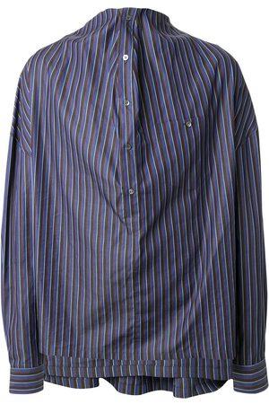 Y / PROJECT Gestreiftes Hemd mit Drapierung
