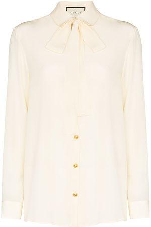 Gucci Hemd mit Schleifenkragen