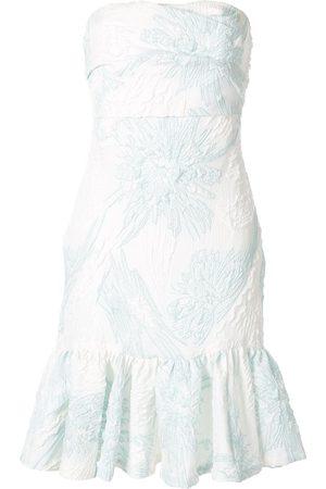 Bambah Schulterfreies Kleid mit Blumen-Print