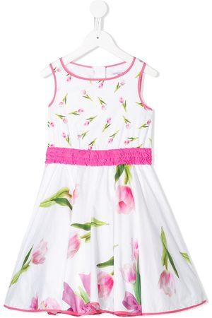 MONNALISA Geblümtes Kleid mit Rüschen
