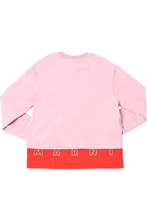 Marni Cotton Sweatshirt W/ Embroidered Logo