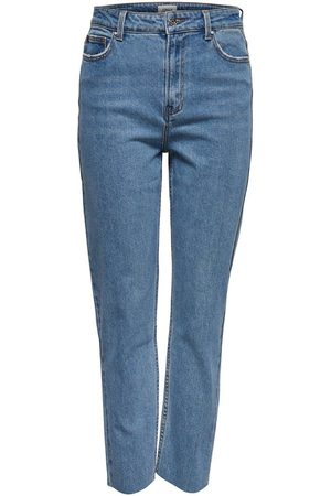 Only Onlemily Hw Cropped Ankle Straight Fit Jeans Damen