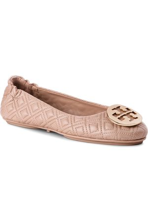 Tory Burch Damen Halbschuhe - Quilted Minnie 50736 Goan Sand/Gold 250