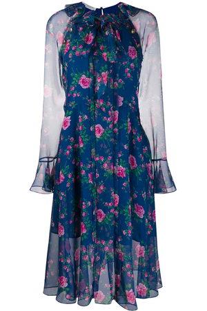 Serafini Kleid mit Blumen-Print