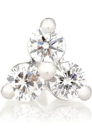 Maria Tash Einzelner Ohrring Trinity Large aus 18kt Weißgold mit Diamanten