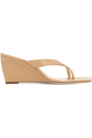 By Far 70mm Theresa Leather Thong Sandals
