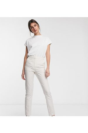 ASOS ASOS DESIGN Tall – Ultimate – Gestreifte Leinenhose in Zigarettenform