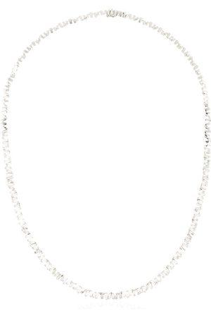 Suzanne Kalan Damen Halsketten - 18kt 'Fireworks' Weißgoldhalskette mit Diamanten