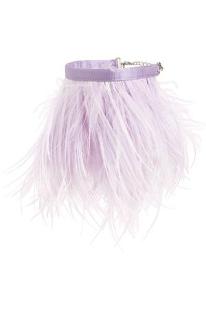 The Attico Ostrich Feather Anklet
