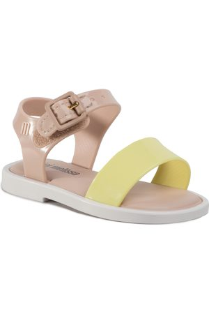 Melissa Mini Mar Sandal III Bb 32633 Pink/White/Yellow 53612