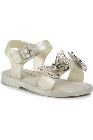 Melissa Mini Mar Sandal Fly Bb 32746 White/Silver 53609